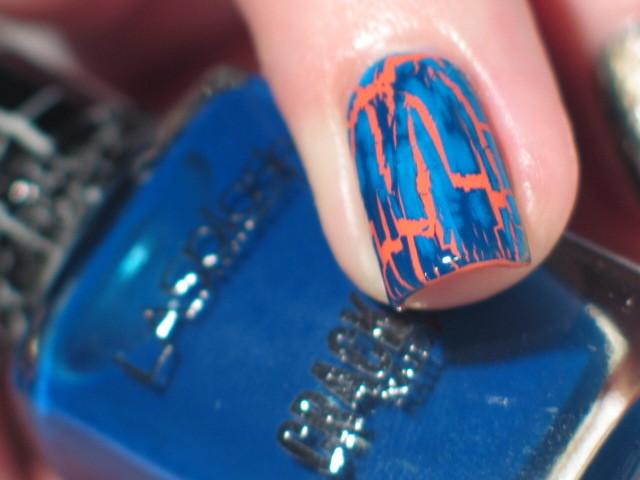 LA Splash crackle'd swatch
