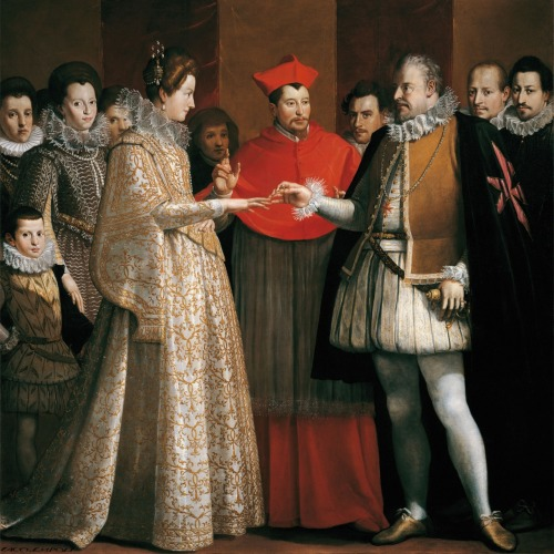 Wedding of Maria de Medici and Henry IV of France by Jacopo Chimenti, 1600, Uffizi Gallery