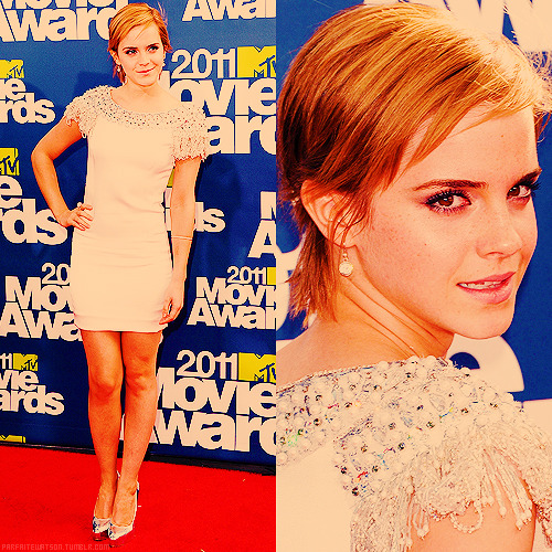 8 best appearance of emma watson in 2011 (x)          #2 ϟ MTV Movie Awards 2011