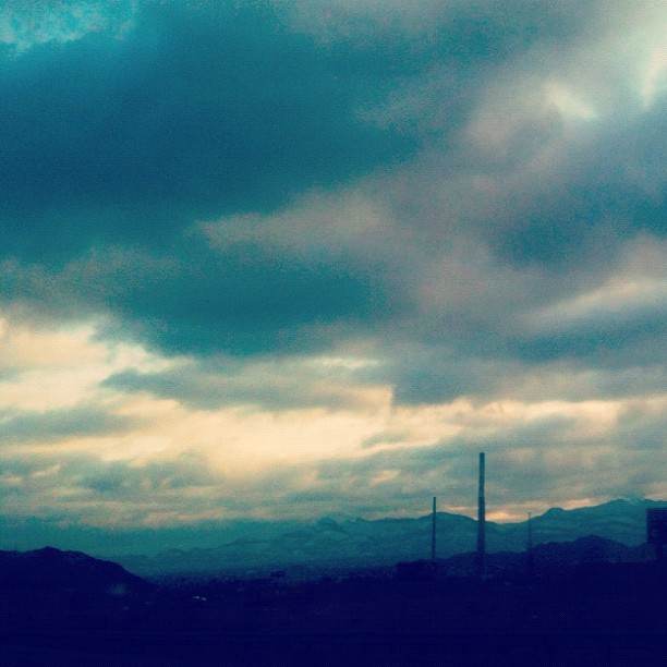 Mountains in Juarez, MX (Taken with instagram)