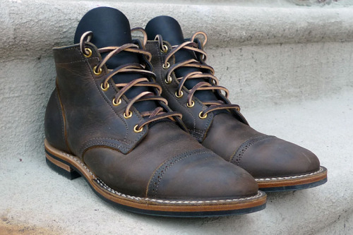 My custom makeup Viberg Service Boots arrived this week.