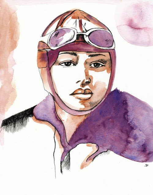 A new series: Woman Aviators. This here is Bessie Coleman. On June 15, 1921 Bessie became the first African American woman to get a pilot license. Merry Christmas.
