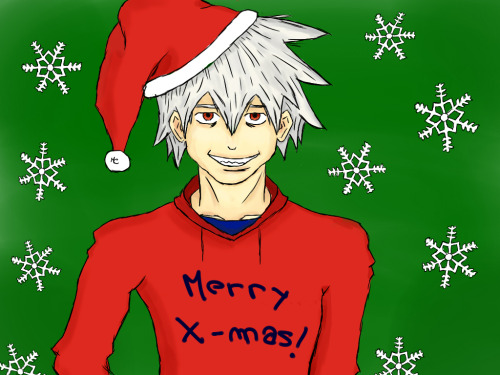 Merry Christmas to everybody!!!! :3 This is my first christmas in tumblr :). I´m so happy Anyways, here is Soul Evans from Soul Eater…..is bit shitty cuz i made it quickly Hope you like it :) Feliz Navidad!