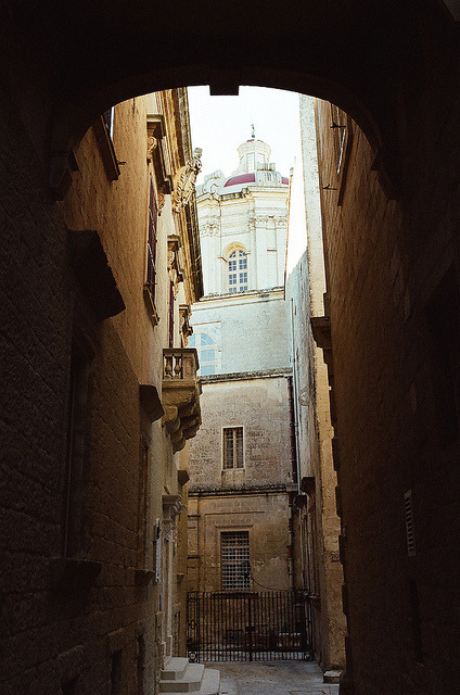 | ♕ |  Ancient passage in Mdina, Malta  | by © Peter Gutierrez  via ysvoice : kami-kp