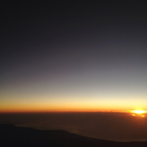 Sunset from the aero plane  (Taken with Instagram at In the air somewhere above SLO)