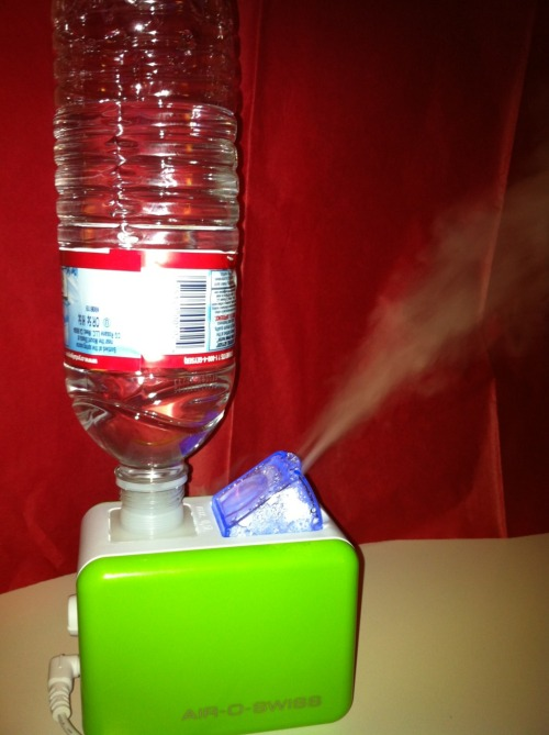 I'm now a happy owner of this mini humidifier. If you live in a dry climate (e.g., Bay Area, Beijing) or easily get nosebleeds (e.g., from playing video games, taking intense exams), then this gadget might delight you. Thanks Mom!