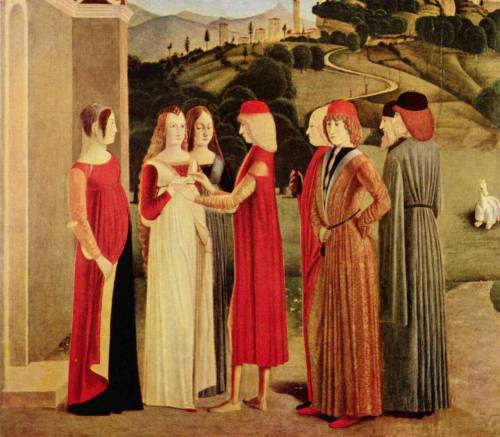 The Betrothal by unknown, ca 1470 Italy, Gemäldegalerie