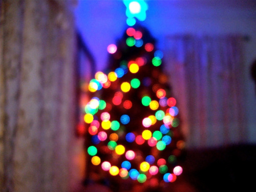 my bokeh christmas tree c:  submitted by thatonedollface