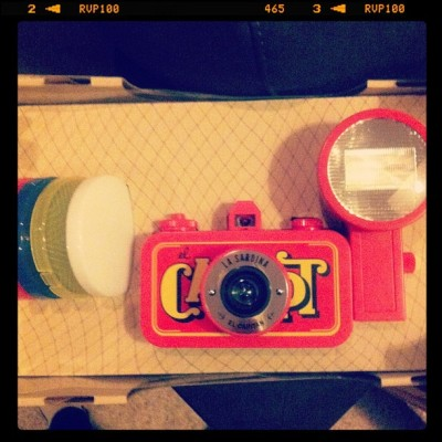 My Pollyanna got me the new La Sardina camera from Lomography!