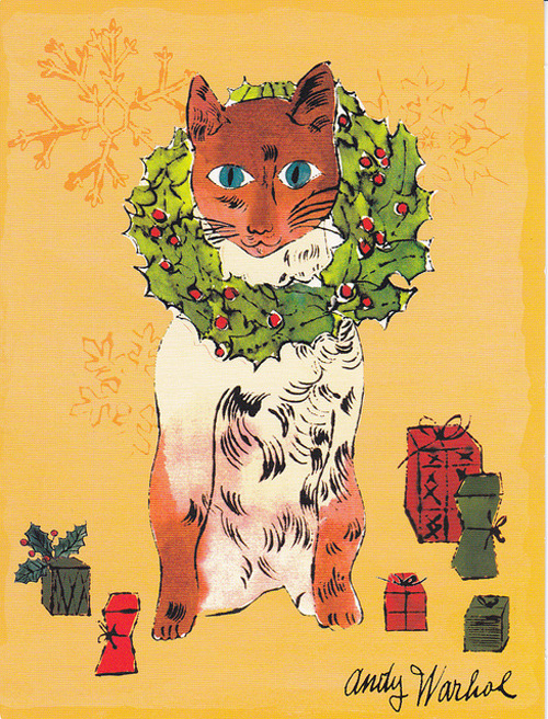 Andy Warhol… CHRISTMAS CAT!