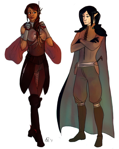 Finished! :D Still D&D characters, still Safiya and Aran. Safiya is mine, Aran is Jack's. Wheeeeee
