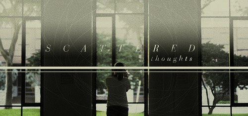 SCATTERED THOUGHTS (by Andre Bohrer) //17//fifty-two weeks of design As per usual, this week's design is a mirrored reflection of my life's condition. I've (somehow) had a lot of time to think about (quite) a bit. Everything from the deep spiritual necessities of life, to the motives behind characters of stories, to the complex workings of cinematographic engineering, to attempting to figure out the complexities of my own self. But they've all been scattered thoughts. I've been writing less and less frequently as of late, and that hasn't aided my disperse mind one single bit. Today — while creating this design — everything felt soothing, albeit anxious at times because of indecisiveness. I channeled all this creative buildup into something, and, by exercising these desires, it turned into an enjoyable process. Maybe that's what I need to do more often: channel my emotions into the right places (because Lord knows that comfort food won't ever permanently help anyone in times of despair). As I deepen in learning the life God wants me to live, and how He wants to restore all people back to him, I begin to take on this new mindset. And it's when I'm in that new mindset time and time again, that everything falls into place. So, as I continue to trek this continuous journey, I'd like to invite you all to stand beside me; to continually pursue the significant things in life, and to not settle with the mediocre; to channel all your beautiful thoughts into something that changes this world. A very merry Christmas to all.