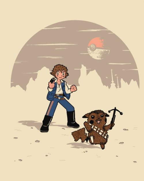 thesarlaccpit:  Star Wars and Pokemon mashup by Venkman.  brilliant.