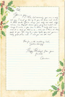 happy holiday letter
