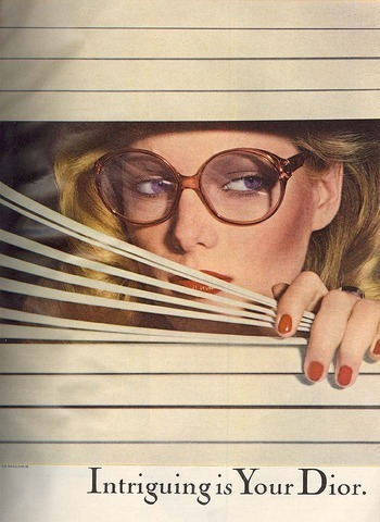 Patti, Dior Glasses, 1977