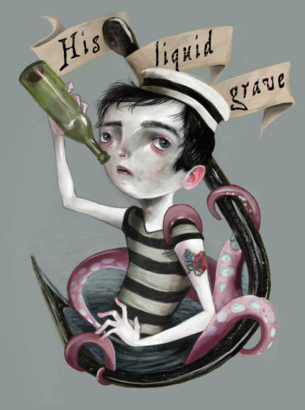 His Liquid Grave, Lisa Falzon