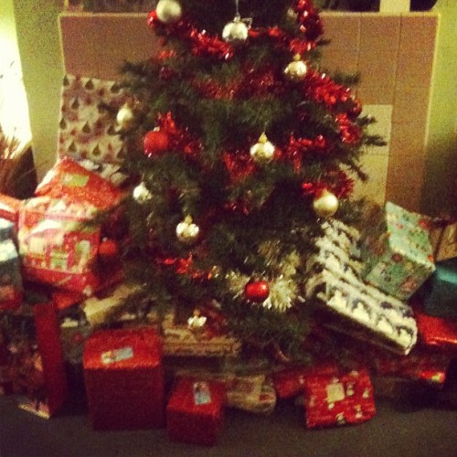 Santas been!!!! Time to get stuck in!  (Taken with instagram)