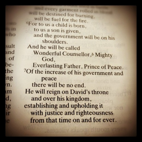 #christmas #message #isaiah9v6-7 (Taken with instagram)