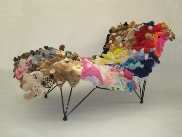 This is made out of recycled stuffed animals! :D