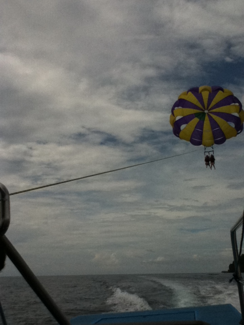 Tried out parasailing for th first time with Megan - adrenaline rushing!
