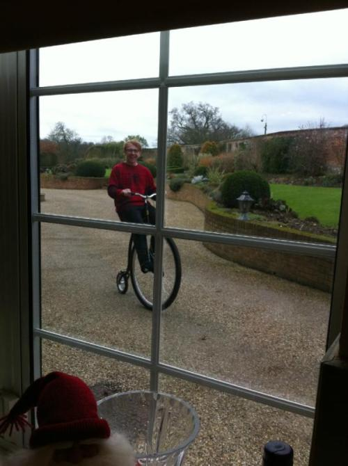 hannahvictoriaadams:  jingleponds:  Rupert Grint on Christmas Day 2011