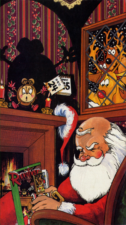 'Little Saint Nick' illustration for Revolver by Mark Buckingham, 1990.Merry Christmas, everyone!