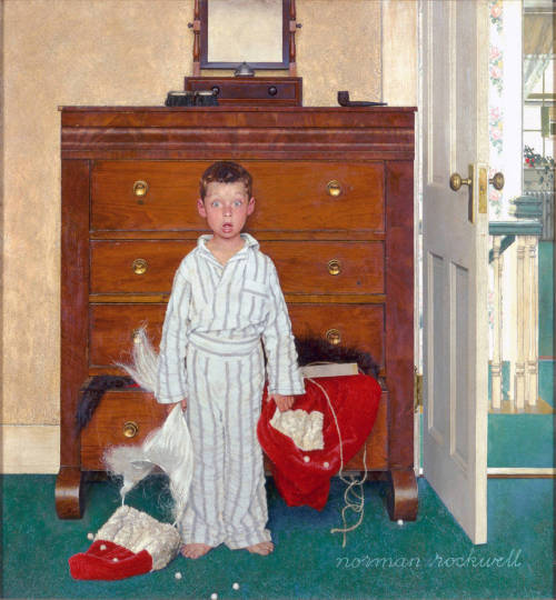 My reaction every year.  [The Discovery (1956) by Norman Rockwell]