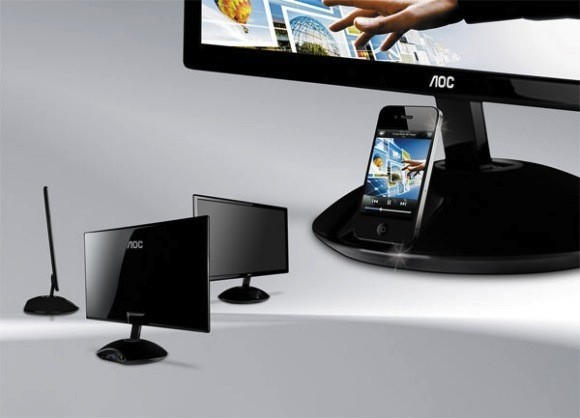burnworks:  AOC reveals iPhone-compatible e2343Fi monitor, boosts your Dock Connector peripheral count by one — Engadget