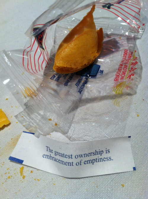 The Most Buddhist Fortune Cookie I've Ever Seen  (Opened on Christmas Eve / the 5th night of Hanukkah)