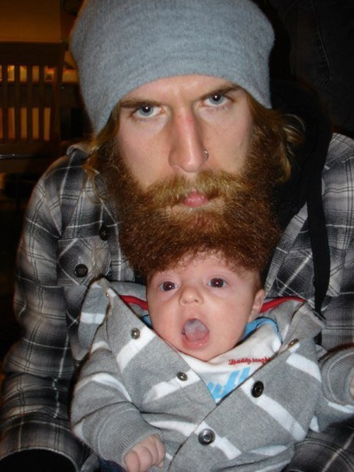 Beards and babies = fun