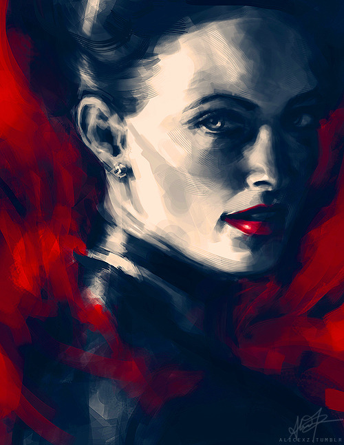 alicexz:  Painting practice of a certain scandalous woman.