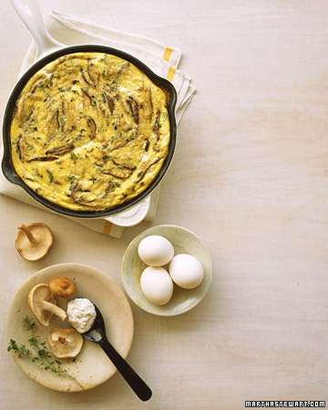Shiitake Mushroom and Cheese Frittata … another yummie brunch-ie recipe! yay! Make!!