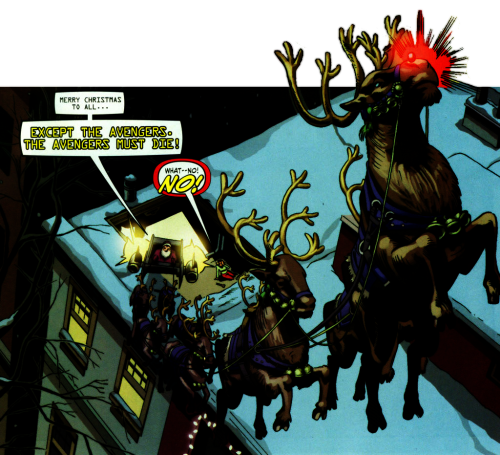 The Avengers wish you a happy holidays (Santa Claus has banned us from a merry Christmas after our latest escapade)!