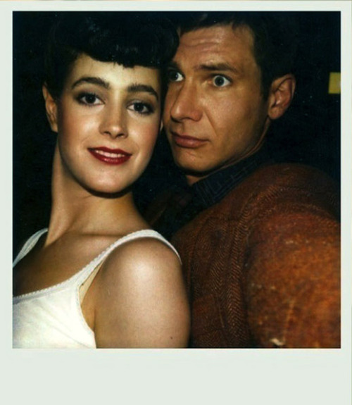 """Blade Runner"" Polaroid Sean Young and Harrison Ford, 1982"