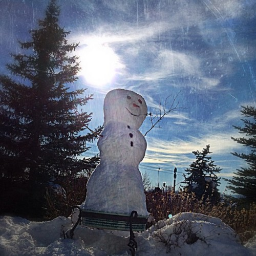 Frosty would like to wish everyone a merry Xmas! (Taken with instagram)