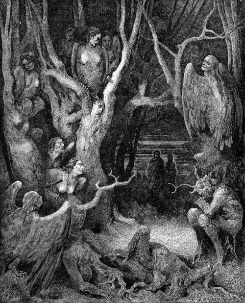 "Illustration by Gustave Doré from ""The Divine Comedy"" by Dante Alighieri Paris, Published 1885."
