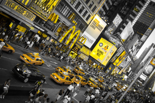 """New York in Yellow"" by Amador Esquiu"