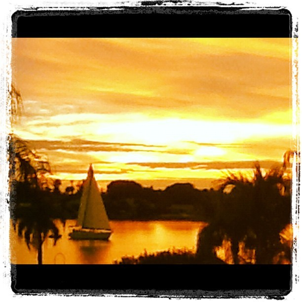 Sunset on another beautiful Floridian Christmas  (Taken with instagram)