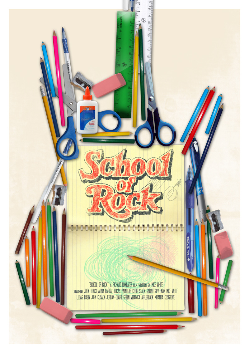 fuckyeahmovieposters:  School of Rock by Joel Amat Güell
