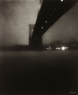 ckck: Brooklyn Bridge, New York City, circa 1903. Photograph by Edward Steichen.