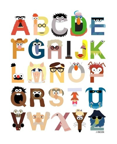 Muppet Alphabet. By Mike Boon