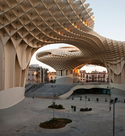 Metropol Parasol, the world's largest wooden structure.