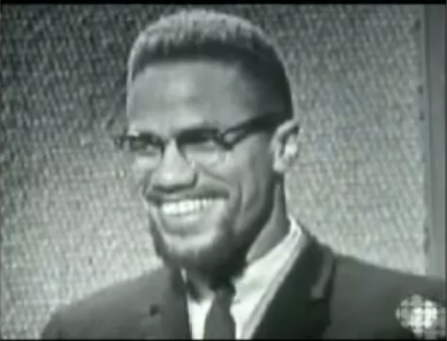 thelovebelow21:  Malcolm X on a Canadian tv show circa 1965Kleav would appreciate this