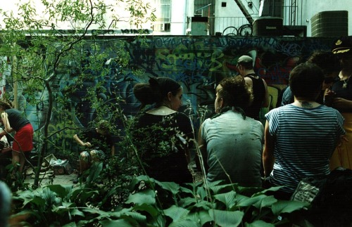 Backyard of ABC No Rio, New York Summer 2005, Photo by Matt Carroll
