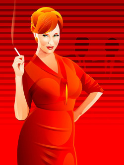 plon:  Mad Men's Joan by Ian Stewart Design on Flickr.