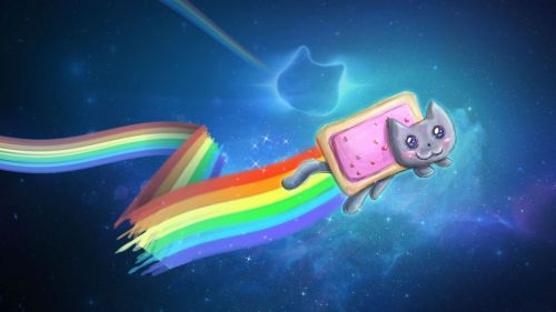 vejiga:  Nyan Cat Wallpaper