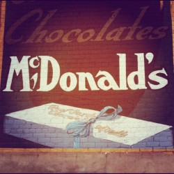 Garden Chocolates. #vintage #retro #type #typography #sign #mcdonalds