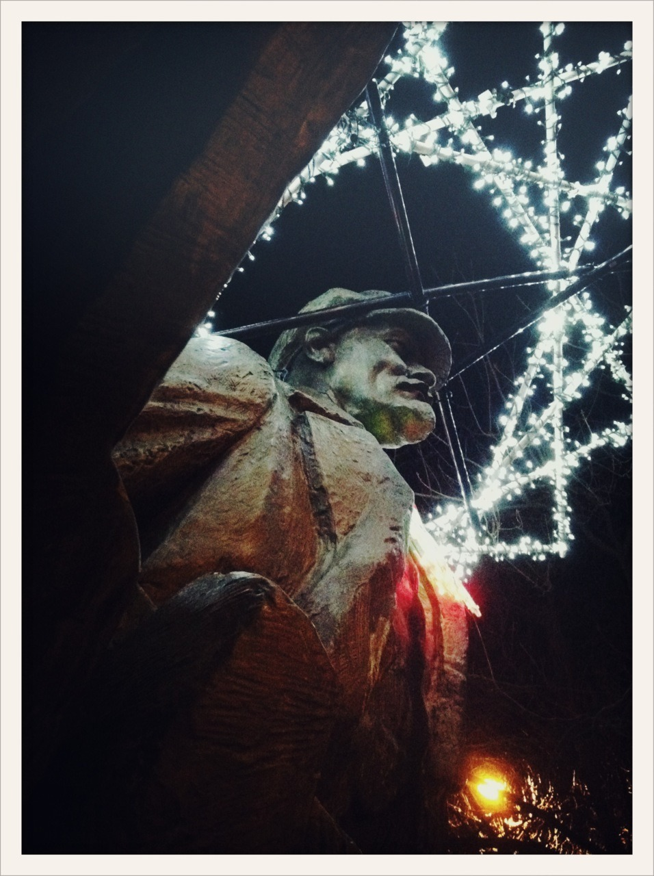 014/365 - 12.25.2011 - 'Fremont Lenin In Winter' Photo: Zachary Brown - 2011 - iPhone 4 w/ Cross Process   This work is licensed under a Creative Commons Attribution-NonCommercial-NoDerivs 3.0 Unported License.