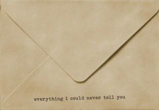 everything i could never tell you