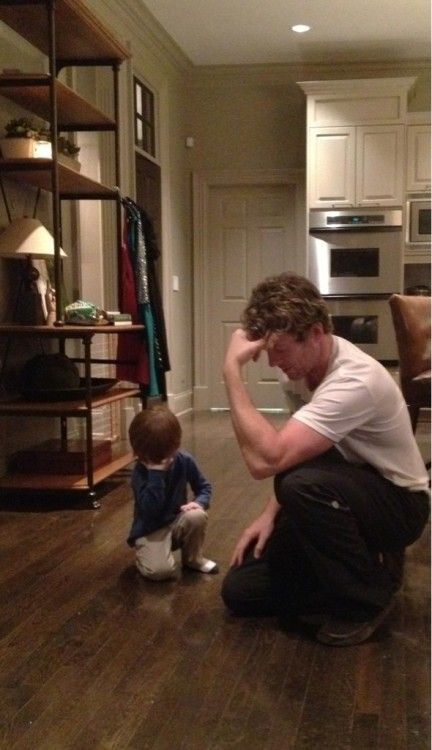 Jagger & I #Tebowing after the @denver_broncos big win tonight!
